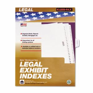 Kleer-Fax 80000 Legal Index Dividers, Side Tab, Exhibit E, 25/Pack (KLF81005)