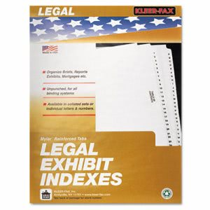 Kleer-Fax 80000 Legal Index Dividers, Side Tab, Exhibit F, 25/Pack (KLF81006)