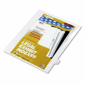 "Kleer-Fax 80000 Series Legal Index Divider, Printed ""21"", 25 Dividers (KLF82221)"