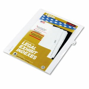 "Kleer-Fax 80000 Series Legal Index Dividers,""42"", 25 Dividers (KLF82242)"
