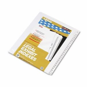 "Kleer-Fax 80000 Series Legal Index Divider Set, Printed ""126""-""150"" (KLF83126)"