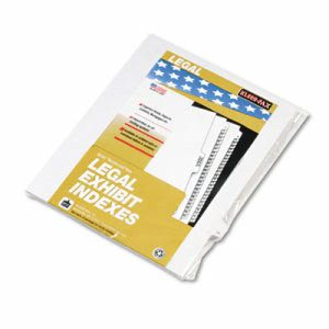 "Kleer-fax 90000 Series Legal Exhibit Index Dividers, Side Tab, Printed ""19"", 25/Pack (KLF91019)"