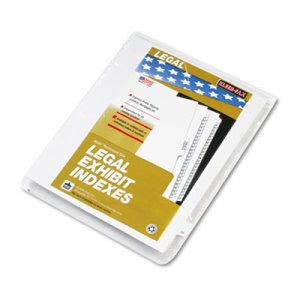 "90000 Series Legal Exhibit Index Dividers, Printed ""22"", 25 Dividers (KLF91022)"