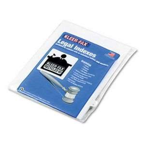 "Kleer-Fax 90000 Legal Index Divider, 1/26 Cut Tab, Title ""V"", 25/Pack (KLF91822)"