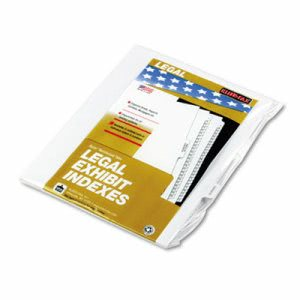 "Kleer-fax 90000 Series Legal Exhibit Index Dividers, 1/10 Cut Tab, ""Exhibit G"", 25/Pack (KLF91857)"