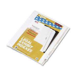 "Kleer-Fax 90000 Series Legal Index Dividers, ""Exhibit I"", 25 Dividers (KLF91859)"