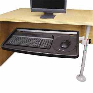 Kensington SnapLock Adjustable Keyboard Tray w/ SmartFit System, Gray (KMW62835)