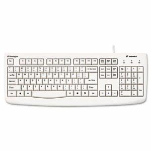 Kensington Pro Fit USB Washable Keyboard, 104 Keys, White (KMW64406)