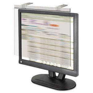 "Kantek LCD Monitor Filter w/Privacy Screen, 17"" Screen, Silver (KTKLCD17SV)"
