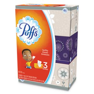 Puffs 2-Ply Facial Tissues, Air-Fluffed, White, 24 Boxes (PGC87615)