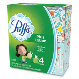 Puffs Plus Lotion Facial Tissue, White, 1-Ply, 24 Boxes (PGC34899CT)