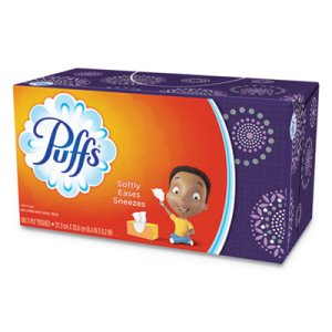 Puffs 2-Ply Facial Tissues, White, 180 Sheets/Box (PGC87611BX)