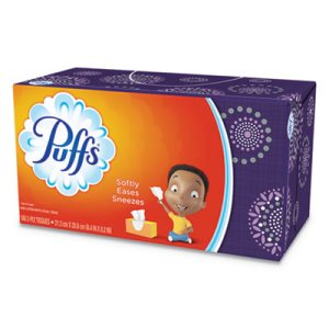 Puffs White 2-Ply Facial Tissues, 24 Boxes (PGC87611CT)