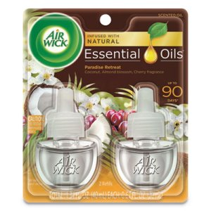 Air Wick Scented Oil Refills, Paradise Retreat, .67-oz, 2 Refills (RAC91110EA)