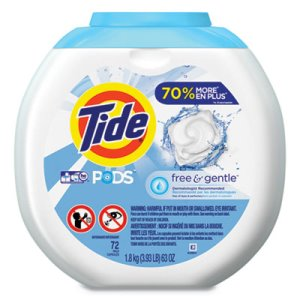 Tide Free & Gentle Liquid Laundry Detergent Pods, 288 Pods (PGC89892CT)