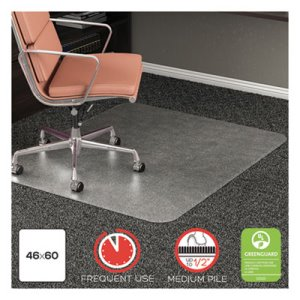 "Deflecto RollaMat Frequent Use Chair Mat, 46"" x 60"", Clear (DEFCM15443FCOM)"