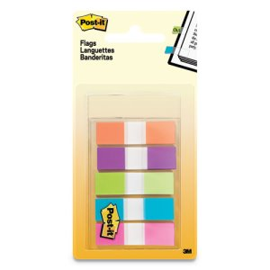 Post-it Flags Page Flags in Portable Dispenser, 5 Colors, 100 Flags (MMM6835CB2)