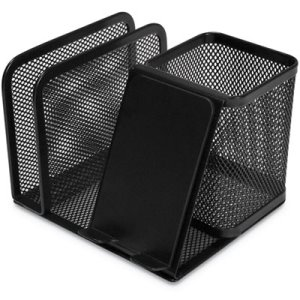 Universal Mesh Desk Supplies Organizer, Black, Each (UNV20002)