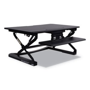 Alera Sit-Stand Lifting Workstation, 35-1/8 x 23-3/8 x 19-5/8, Black (ALEAEWR2B)