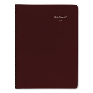 "DayMinder Recycled Weekly Appointment Book, Burgundy, 8"" x 11"", 2020 (AAGG52014)"