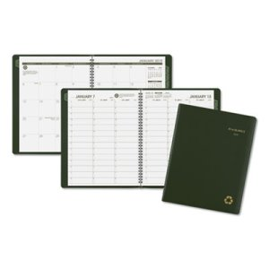 Recycled Weekly/Monthly Appointment Book, Green, 2018 (AAG70950G60)