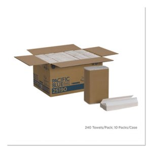 Envision 25190 White C-Fold Paper Towels, 2,400 Towels (GPC25190)