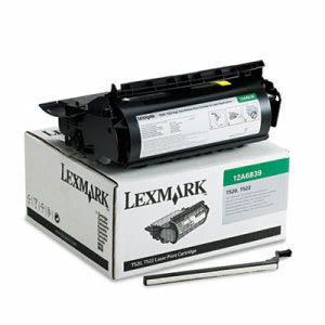 Lexmark 12A6839 High-Yield Toner, 20000 Page-Yield, Black (LEX12A6839)