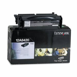 Lexmark 12A8420 Toner Cartridge, 6000 Page-Yield, Black (LEX12A8420)