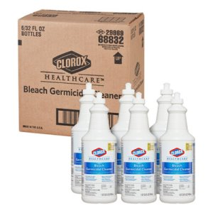 Clorox Healthcare Bleach Germicidal Cleaner, 6 Pull-Top Bottles (CLO68832)