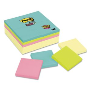Post-it Notes Super Sticky Note Pad Office Pack, 24 Pads (MMM65424SSCYM)