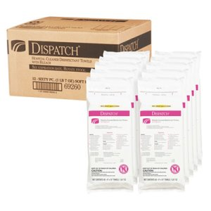 Clorox Dispatch Disinfectant Towels with Bleach, 12 Packs (CLO69260)