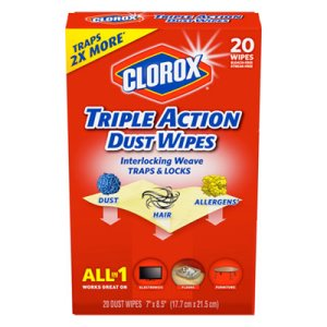 Clorox Triple Action Dust Wipes, 10 Boxes (CLO31313CT)