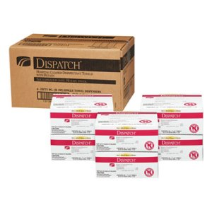 Dispatch Cleaner Disinfectant Towels with Bleach, 50ct, 6 Boxes (CLO69101)
