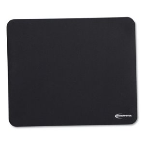 Innovera Natural Rubber Mouse Pad, Nonskid, Black, 1 Each (IVR52448)