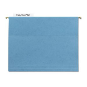 Smead Tuff Hanging Folder with Easy Slide Tab, Letter, Blue, 18/Pack (SMD64041)