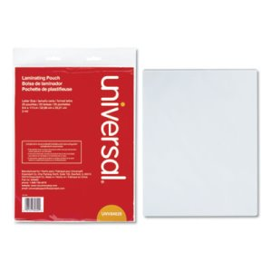 Universal Clear Laminating Pouches, 3 mil, 9 x 11 1/2, 25/Pack (UNV84620)