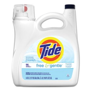 Tide Free & Gentle Liquid Laundry Detergent, 150 oz Pump Bottle, 4/Carton (PGC41967)