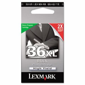 Lexmark 18C2170 (36XL) High-Yield Ink, 500 Page-Yield, Black (LEX18C2170)