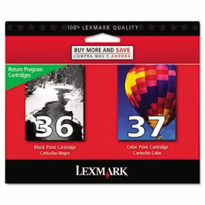 Lexmark 18C2229 (36; 37) Ink, 175 Page-Yield, 2/Pack, Black; Color (LEX18C2229)