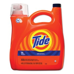 Tide HE Laundry Detergent, Original Scent, 150 oz Pump Bottle, 4/Carton (PGC40365)