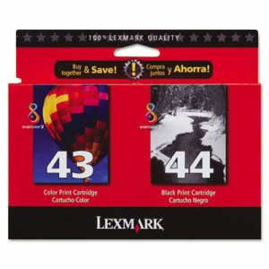 Lexmark 18Y0372 Ink, 500 Page-Yield, 2/Pack, Black; Tri-Color (LEX18Y0372)