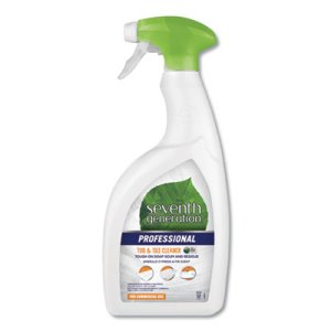 Seventh Generation Tub & Tile Cleaner, 32 oz, Cypress, 8 Bottles (SEV44728CT)