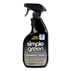 Simple Green Stainless Steel Cleaner & Polish, 32oz Spray Bottle (SMP18300CT)