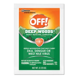 OFF! Deep Woods Insect Repellent Towelettes, 12 Packs (SJN611072)