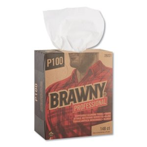 Brawny Professional P100 Light-Duty Paper Wipers, 148/BX, 20 Boxes (GPC29221)