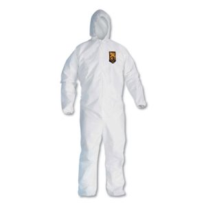 KleenGuard A20 Particle Protection Coveralls, Zip Closure, 3XL, White (KCC49116)
