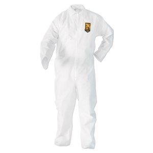 KleenGuard A20 Particle Protection Coveralls, Zip Closure, 2XL, White (KCC49105)