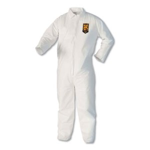 KleenGuard A40 Liquid and Particle Protection Coveralls, XL, White (KCC44304)