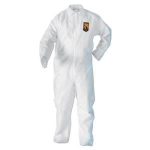 KleenGuard A20 Breathable Particle Protection Coveralls, XL, White (KCC49104)