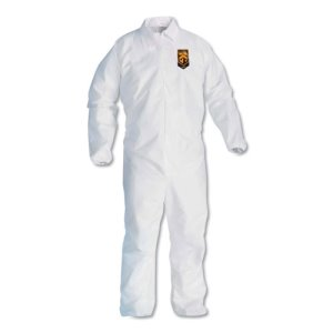 Kleenguard* A40 Coveralls, Elastic Wrists/Ankles XL, White (KCC44314)
